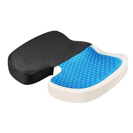 NewMum Gel Memoria Algodón Cojín Lento Rebote Confort Protección ortopédica Aliviar el Dolor de la Columna Lumbar Adecuado para sillas de Ruedas de ...