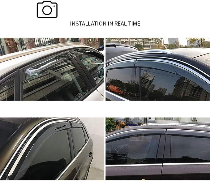 4 Piezas ,2012to2018A6L YYD Juego de deflectores de Viento para Autos Protecci/ón de explosi/ón Audi