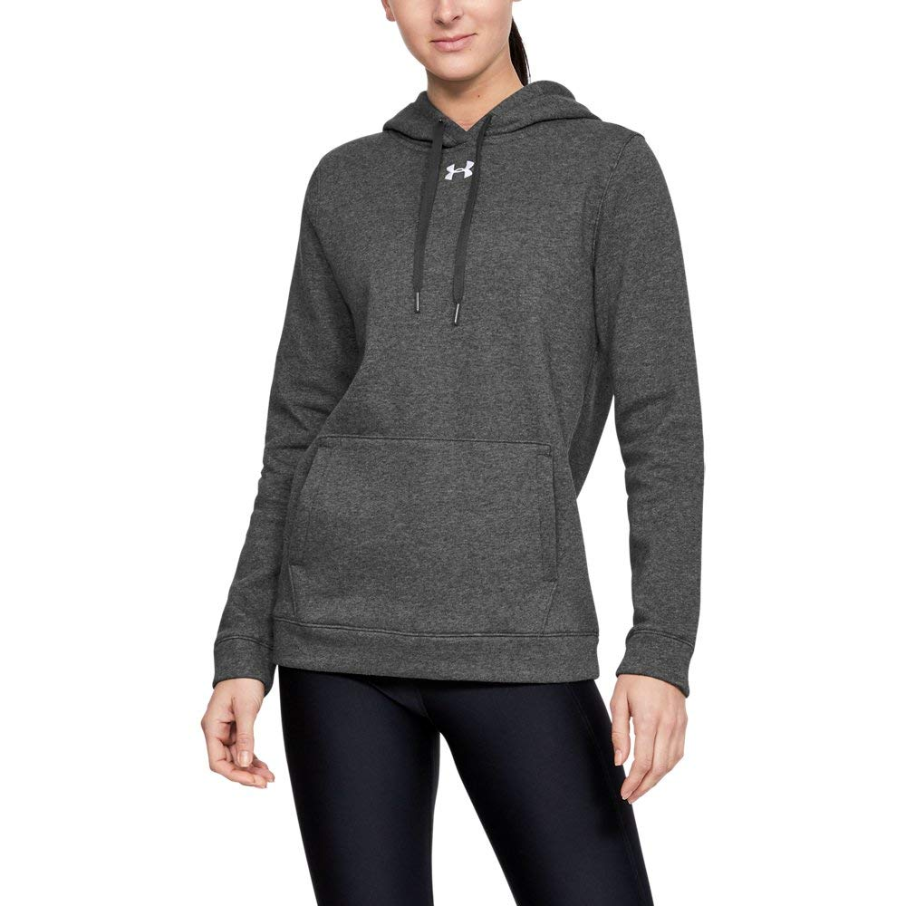 Under Armour Women's UA Rival Hoodie XLT Carbon Heather by Under Armour