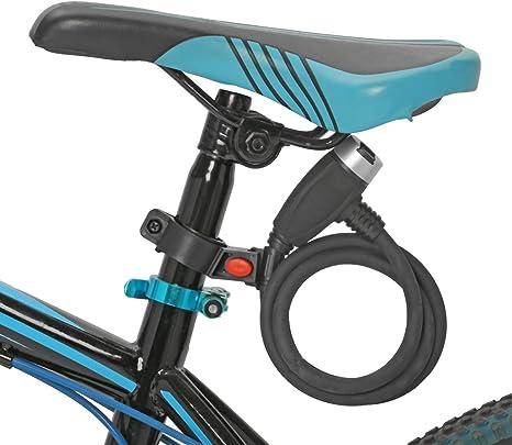 outerdo 125 cm Incluso coiling bicicleta MTB – Candado para ...