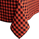 Rectangle Checkered Tablecloth,Waterproof Spillproof Plaid Tablecloth,Washable Wipeable Gingham Table Cloth,Wrinkle Free…