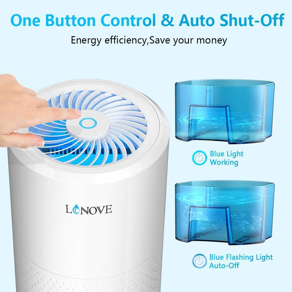 sous-sol LONOVE Mini d/éshumidificateur 1000 ml pour maison salle de bain cuisine chambre bureau