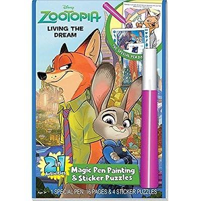 Disneys Zootopia Living the Dream Magic Pen & Sticker Puzzles: Toys & Games