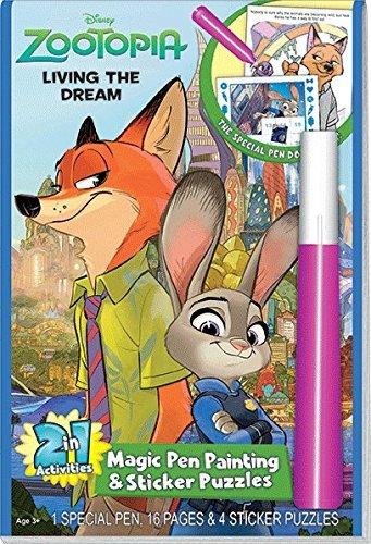 Disneys Zootopia Living the Dream Magic Pen & Sticker (Puzzle Pen)