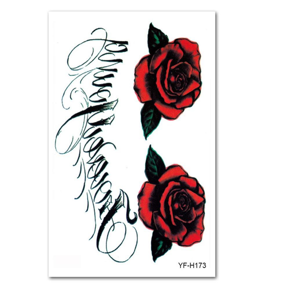 3Pcs-Flower brazo tatuaje pegatinas a prueba de agua simulación ...
