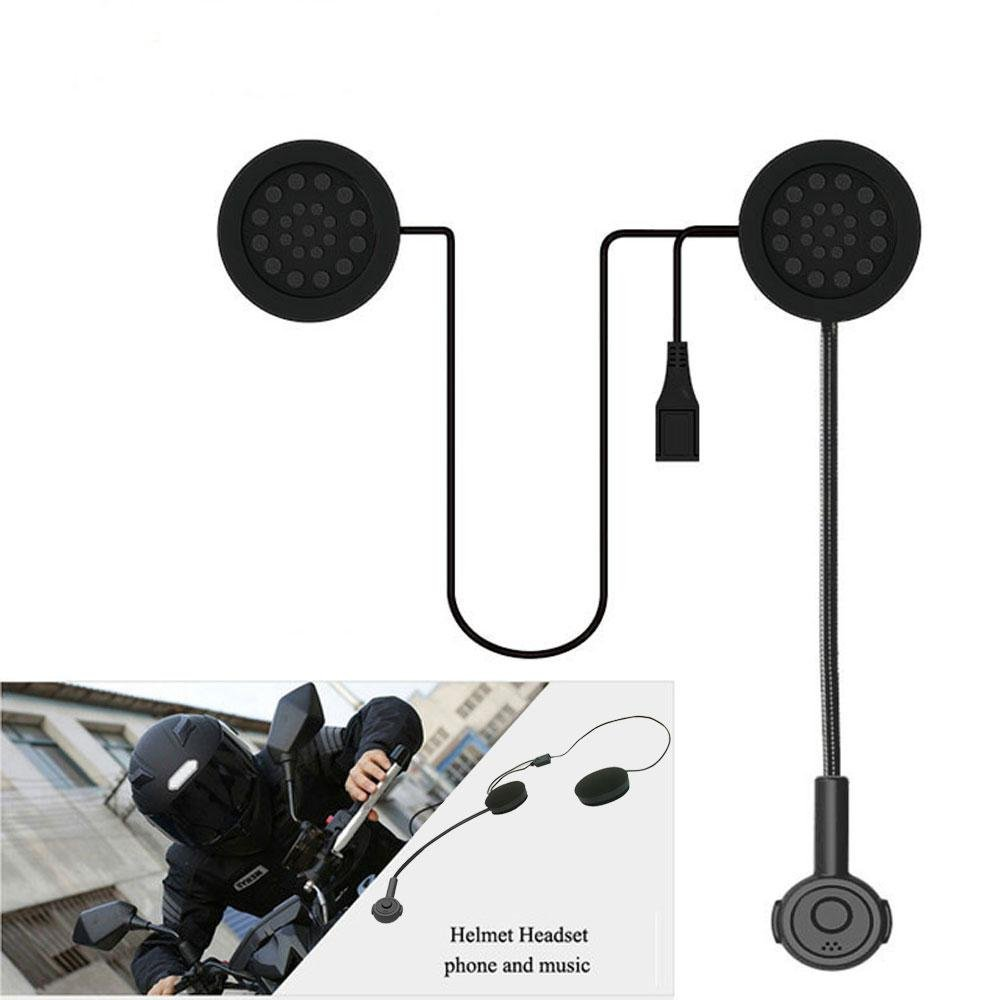 Teepao Motorcycle Helmet Bluetooth Headset Wireless Intercom Headset Motorcycle Helmet Bluetooth Speakers, Wireless Helmet Communication Systems for Motor Motorbike, Motor Helmet Headset