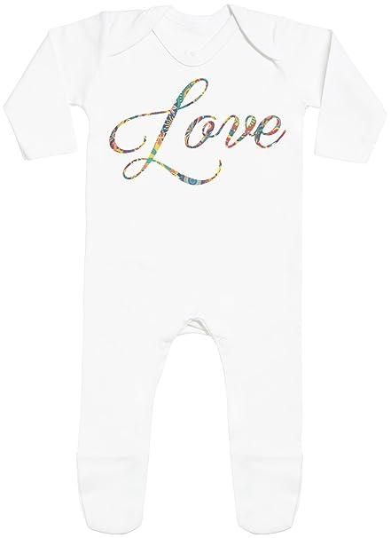 Love Print with Feet - peleles para bebé - peleles para bebé niño - peleles para bebé niña: Amazon.es: Ropa y accesorios