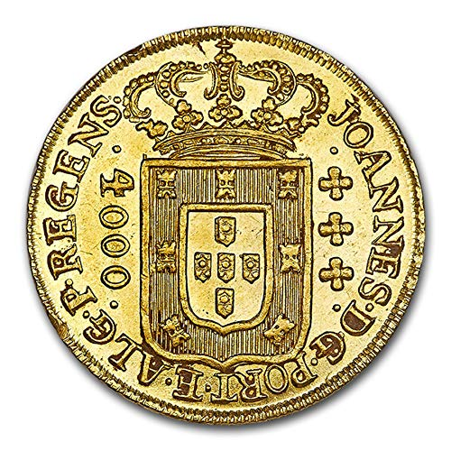 1810 BR Brazil Gold 4000 Reis MS-64 NGC Gold MS-64 NGC