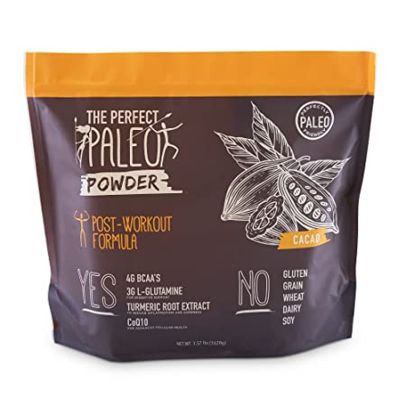 The Perfect Paleo Powder – Post Workout Paleo Protein Powder Chocolate Natural Cacao Muscle Building Protein Powder, Best Protein Powder, Beef Collagen Protein – 30 Servings