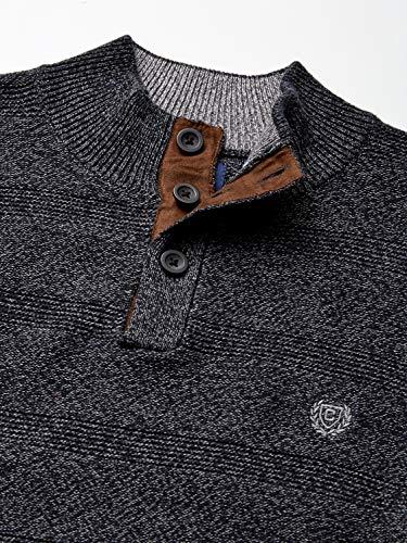 Chaps Men's Classic Fit Twist Button Mock Sweater