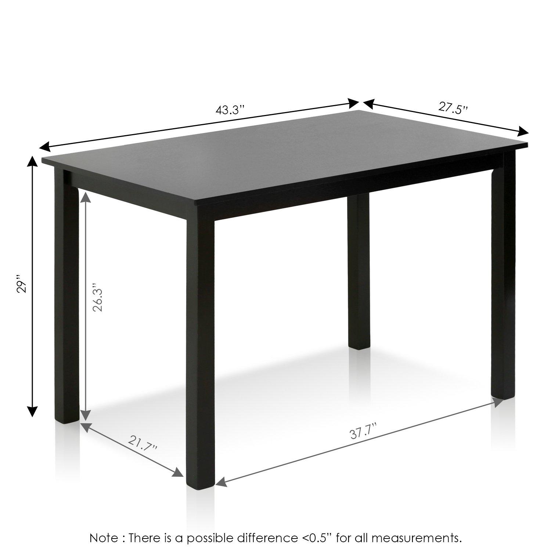 Furinno Franklin Solid Wood Dining Table, Espresso by Furinno (Image #2)