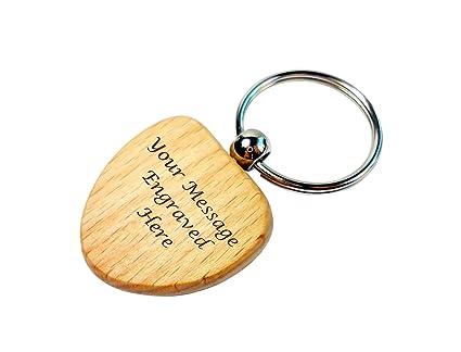 90ecab9bef Personalised Wooden Keyring Gift, Engraved, Heart Shaped Wood Key Ring:  Amazon.co.uk: Kitchen & Home