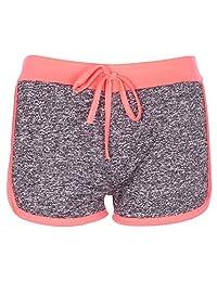 Noroze Girls Kids Gym Fleck Hot Pants Activewear Shorts