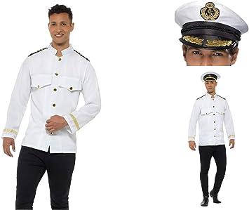 Children Kids Stag Captain Hat Adult Naval Officer Fancy Dress Navy Sailor