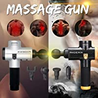 Elektrisches Massagepistole, Luckyfine Muskelmassage Entspannen Gerät, Handmassagegerät mit tiefem Gewebe Muskelmassagegerät, Körper Entspannen Muscle Physiotherapie