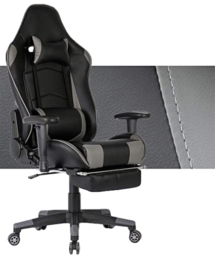 design de qualité 770dc 930ef Tiigo Chaise Gamer Fauteuil de Bureau Chaise(Nero/Grigio,New ...