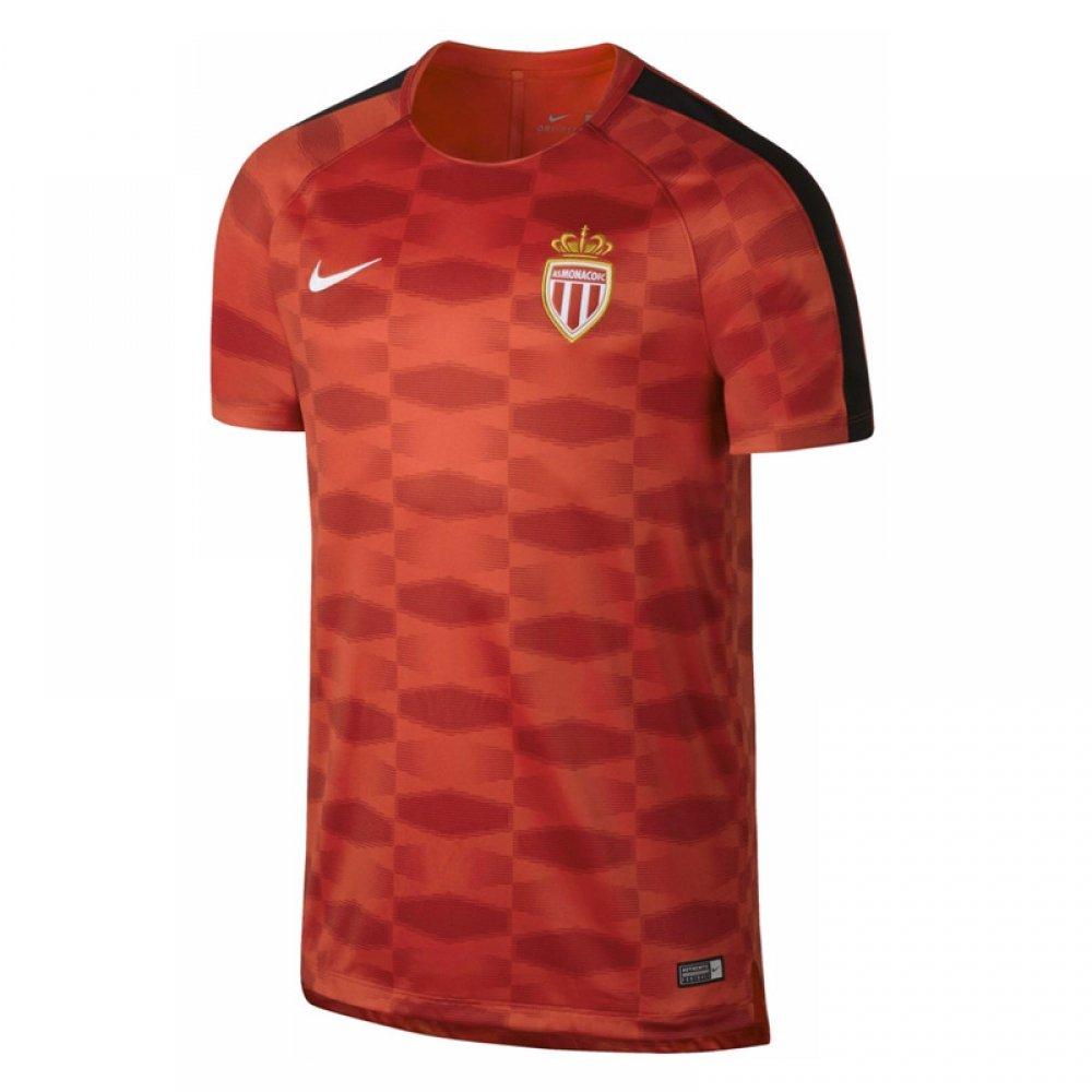 2017-2018 Monaco Nike Dry Pre-Match Training Shirt (Red) B074596GW8