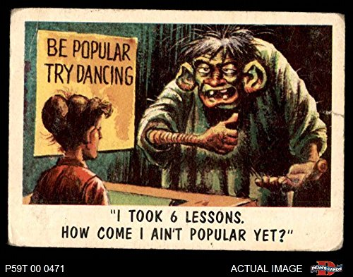 (1959 Topps/Bubbles Inc You'll Die Laughing # 44 I took 6 lessons (Card) Dean's Cards 2 - GOOD 2969076)