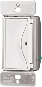 Eaton RF9501AW ASPIRE RF Single-Pole Wireless Light Switch, 15-Amp, Alpine White Finish