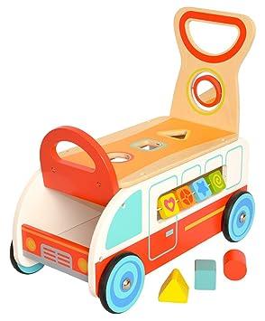 Tooky Toy - Andador infantil multifunción - Centro de actividades - Carrito