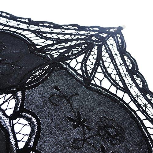 TopTie Lace Umbrella Wedding Parasol Bridal Shower Decoration Photograph Costume-Purple2 by TopTie (Image #4)