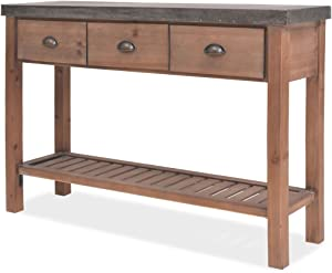 H.BETTER Wooden Sideboard Storage Cabinets Buffets Sideboards Console Table Handmade Fir Wood 48