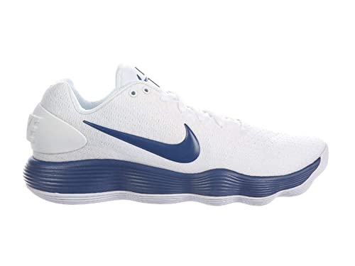 ba735a1498d6d Nike Men s React Hyperdunk 2017 Low White Court Blue Synthetic Basketball  Shoes 9.5 ...