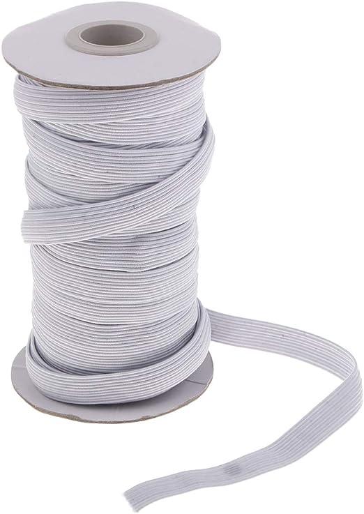 10 Meter Wäschegummi Gummiband Hosengummi Gummilitze 5 mm Weiß Hohe Qualität