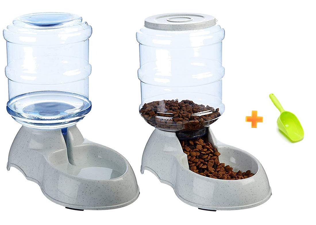 Ito Rocky Pet Feeding Solution Automatic Dog & Cat Cafe Feeder and Water Dispenser in Set 6-Meal Automatic Food Dispenser with Timer for Small/Middle Dogs and Cats by Ito Rocky