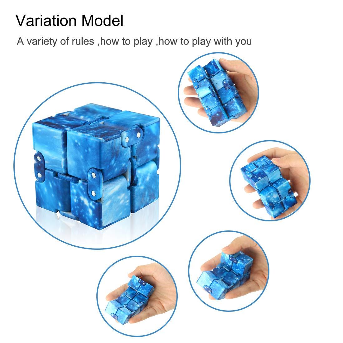 Andux Infinity Cube Fidget Jouet Stress Réducteurs Drôle Doigt Jouets JYMF-01 #10