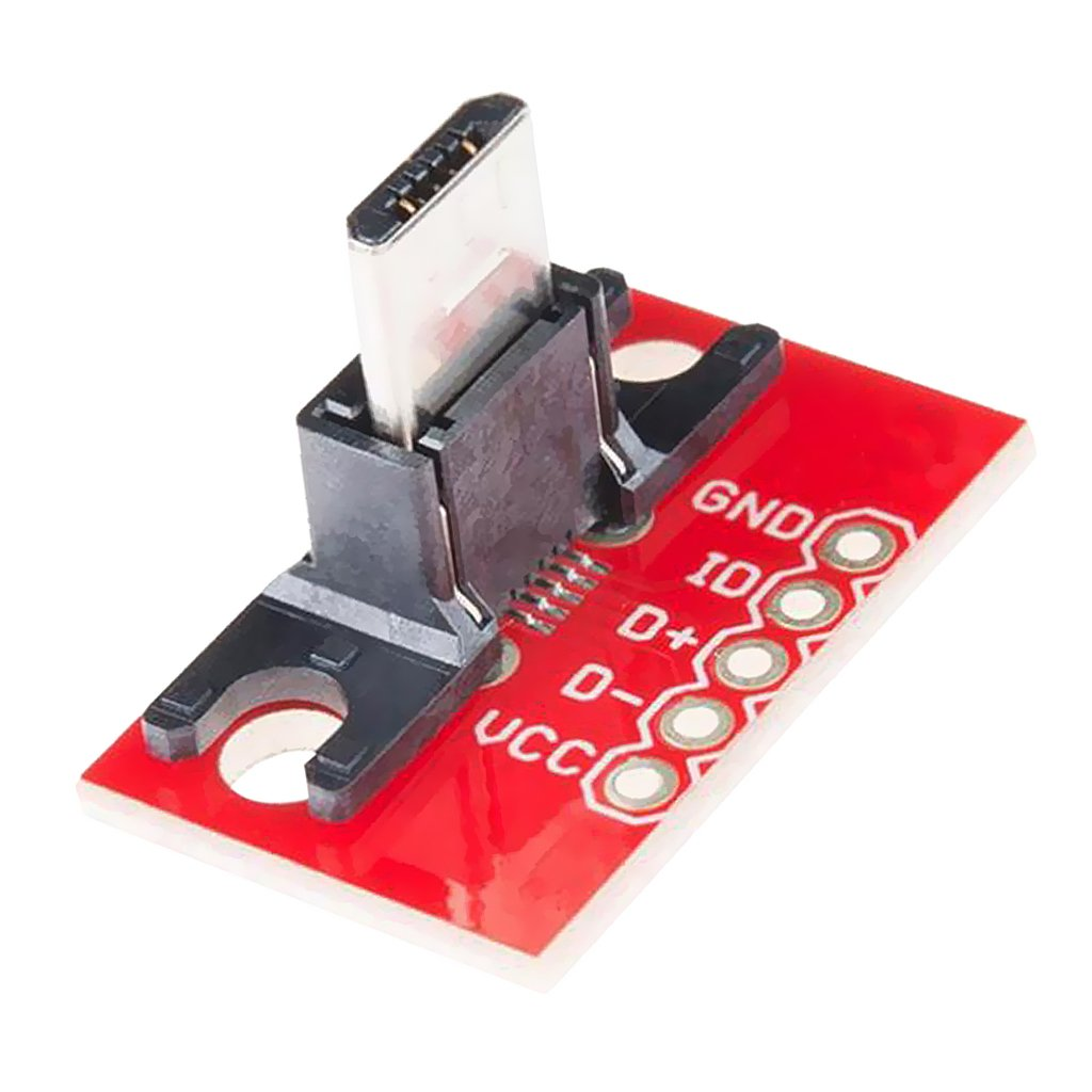 Almencla 4pcs Basic Micro B USB Type B Receptacle Breakout Module Board For Arduino