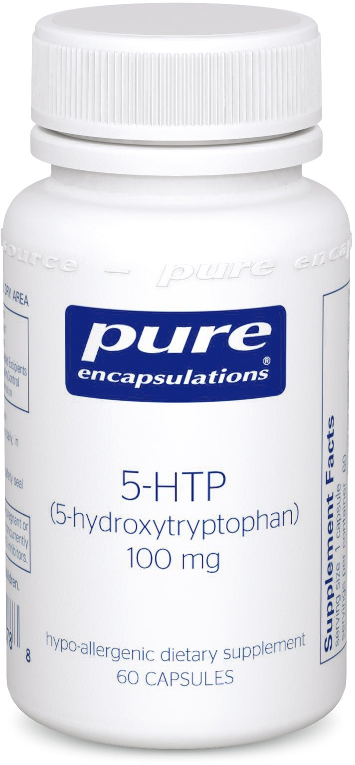 Pure Encapsulations - 5-HTP (5-Hydroxytryptophan) 100 mg - Hypoallergenic Dietary Supplement to Promote Serotonin Synthesis* - 60 Capsules