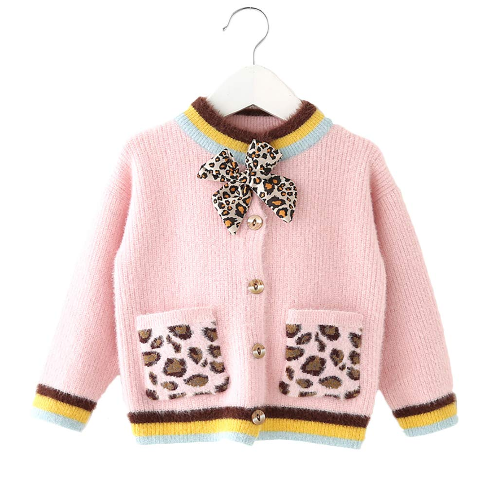 Moonnut Little Girls Cashmere Cable Knit Cardigan Sweater Toddler