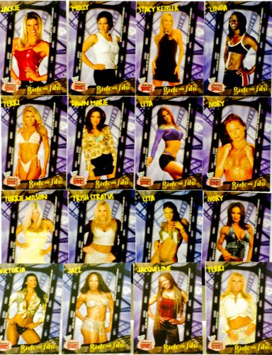 2002 - Fleer / WWE - Absolute Divas Series - Girls On Film Set - 18 Trading Cards in Set - Jackie / Lita / Stacy Keibler / Trish Stratus / Ivory / Torrie Wilson + More - Out of Production - Rare - Limited Edition - Collectible
