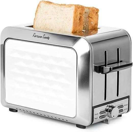 4 Slice Toaster Wide Electric Bread Bagel Hamburger Bun Defrost Crumb Tray Four