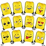 Best Emoji Backpacks For Kids - DECORA Emoji Drawstring Backpack Bags for Christmas Party Review