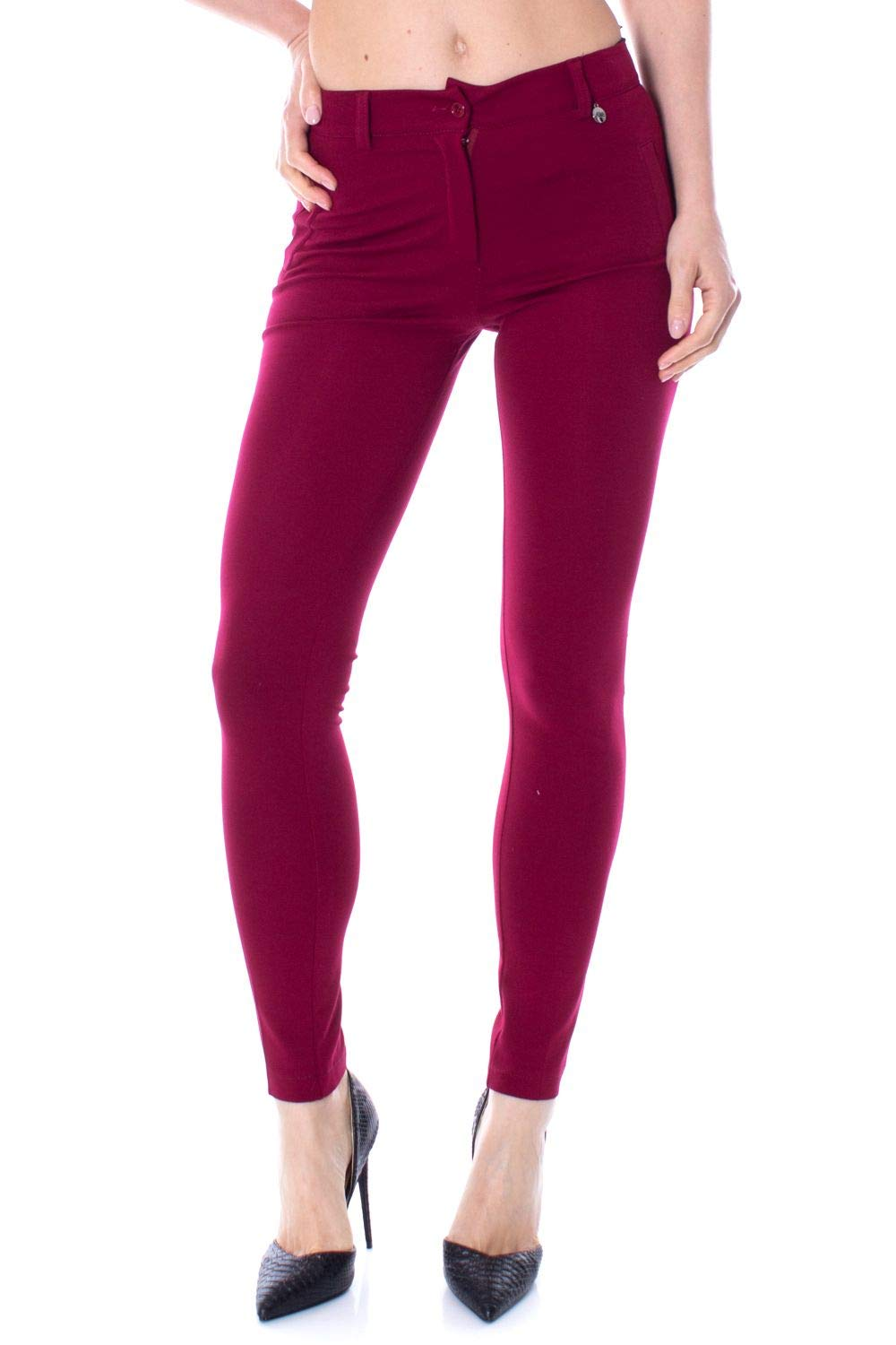 Akè Women's F646YAIP5151BORDEAUX Burgundy Viscose Pants