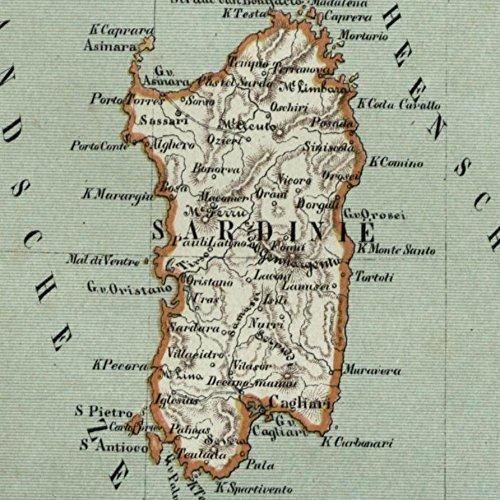Amazon Com Corsica Sardegna Sardinia Italy France Isles 1882