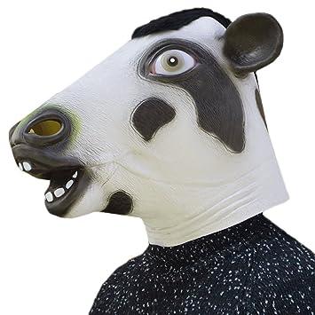 Halloween vívida vaca cabeza completa cara máscara de Halloween cosplay traje de fiesta accesorios