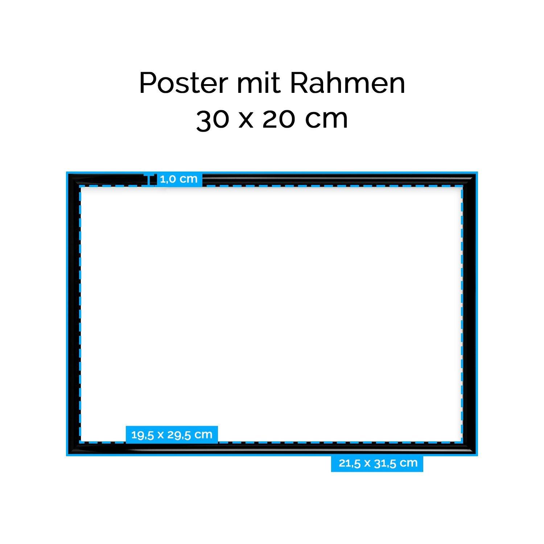 Amazon.de: artboxONE Poster mit Rahmen 30x20 cm Cruffins von ...