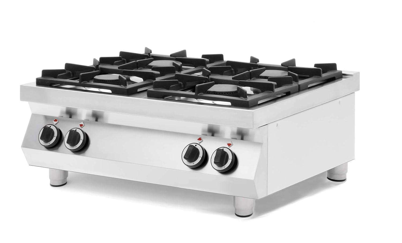 Hornillo de gas Kitchen Line 4 quemadores de mesa: Amazon.es ...