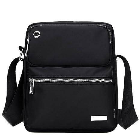59b367d38d50f EasyHui Nylon Crossbody Shoulder Bag Messenger Bag for Men Leisure Shoulder  Bag Boy Black