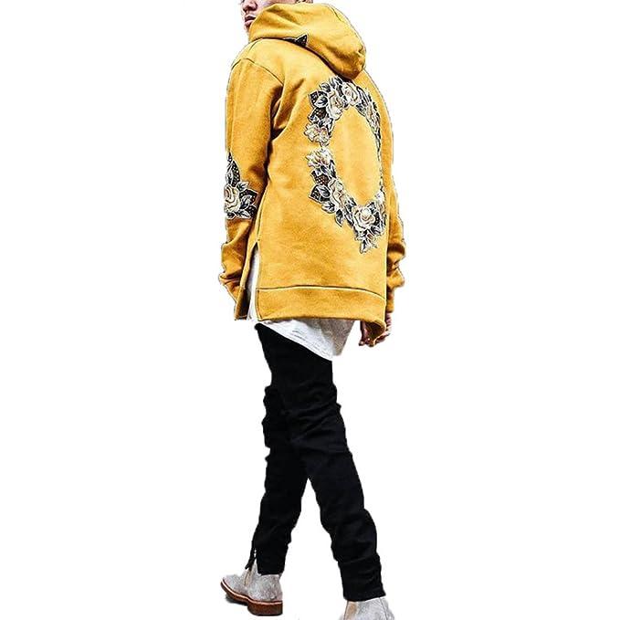 Sudadera con Capucha para Hombre - Otoño/Invierno Hombre con Capucha Casual Chaqueta Bordada Deportiva Tops Outwear: Amazon.es: Ropa y accesorios