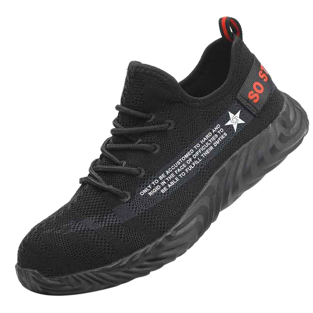 Midress Mens Womens Running Shoes Sneakers Breathable Anti-Smashing Piercing Safety Work Shoes Sports Sneakers