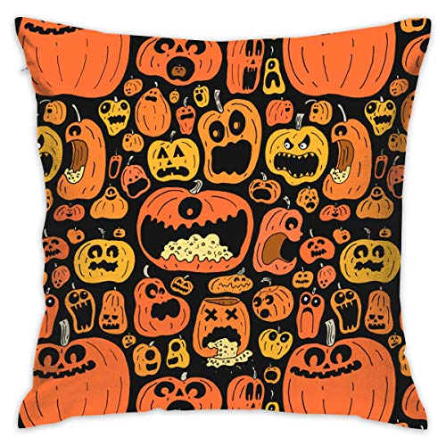 NBXIXI Funny Halloween Calabazas Square Cushion Cover Throw Pillow Case for Bedroom 20