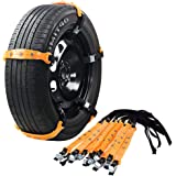 VeMee Snow Chains for Car Snow Tire Chains Car Safety Chains Emergency Traction Adjustable Chains Universal Anti Slip…