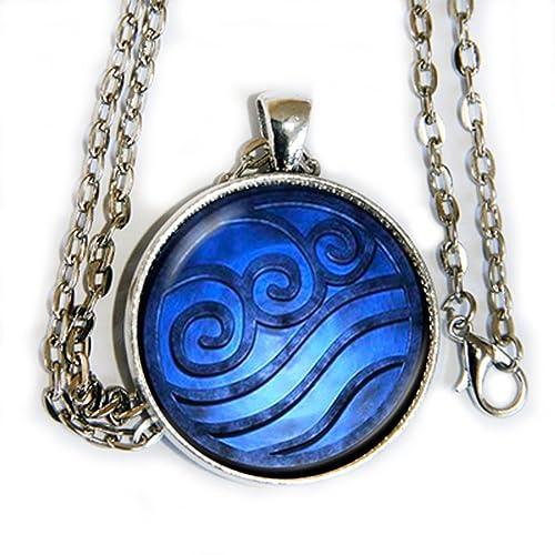 Amazon Avatar Airbender Water Symbol Pendant Necklace Hm