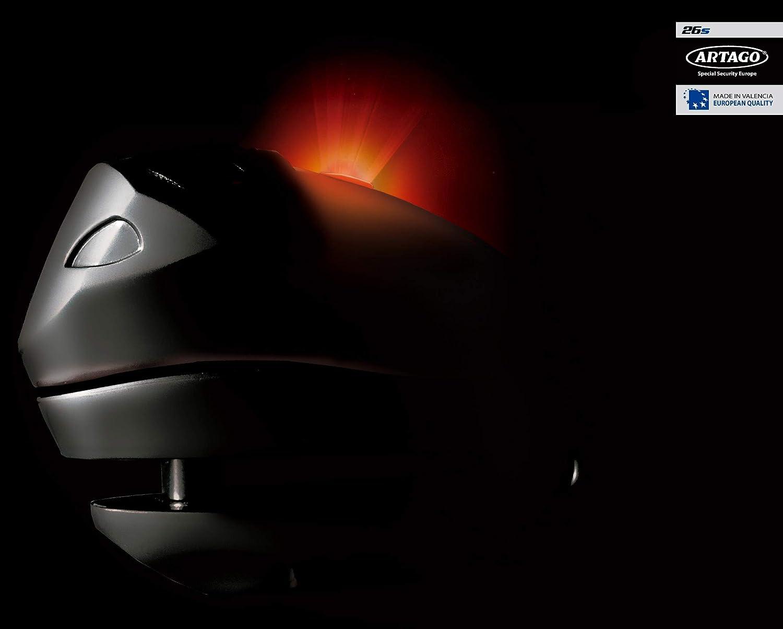 Artago 26S.10M Candado antirrobo Disco con Alarma Inteligente 10mm remplazado por 30X10, Metalico, 1200db
