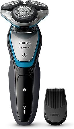 Philips AquaTouch S5400 - Afeitadora (Rotación, 2 Año(s), Negro, Azul, Plata, LED, Batería/Corriente, Ión de litio)