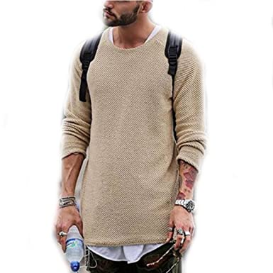 540a670ae LOG SWIT Men Sweater Autumn Winter Knitted Solid Pullover Casual ...